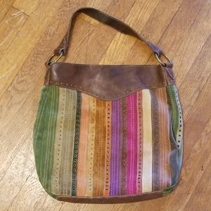 Fossil Multicolor Leather Bag